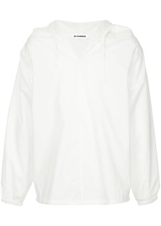 Jil Sander oversized drawstring shirt