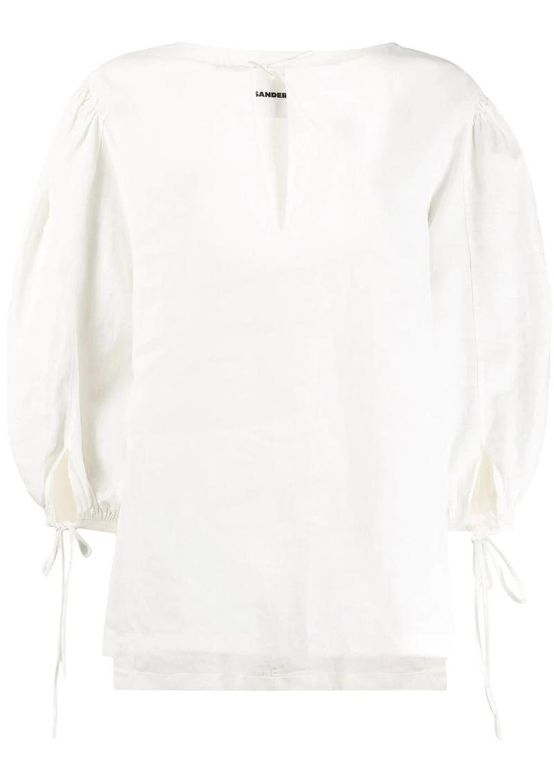Jil Sander oversized long-sleeve blouse