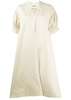 Jil Sander oversized puffed sleeve dress