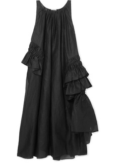 Jil Sander Oversized Ruffled Cotton-poplin Maxi Dress
