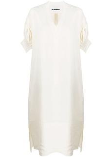 Jil Sander oversized ruffled sleeve dress