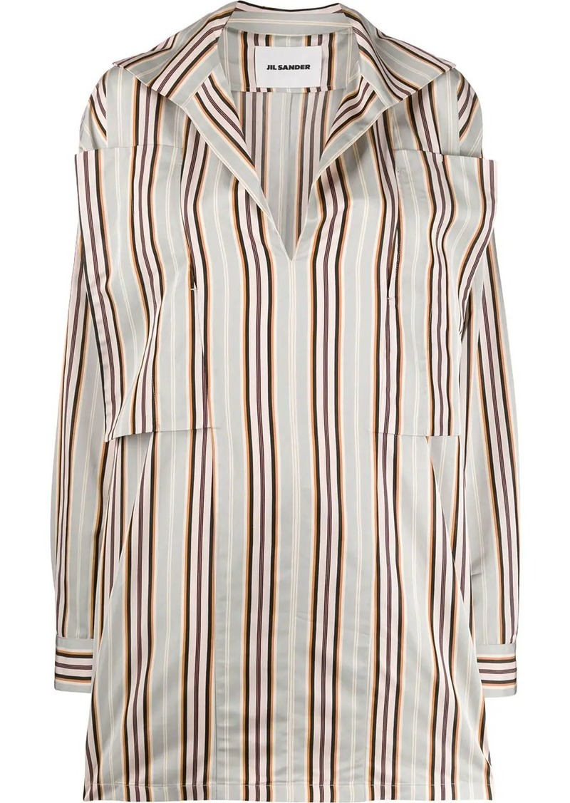 Jil Sander oversized striped button-up shirt
