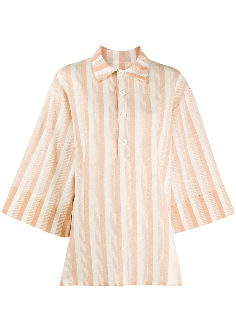 Jil Sander oversized striped shirt