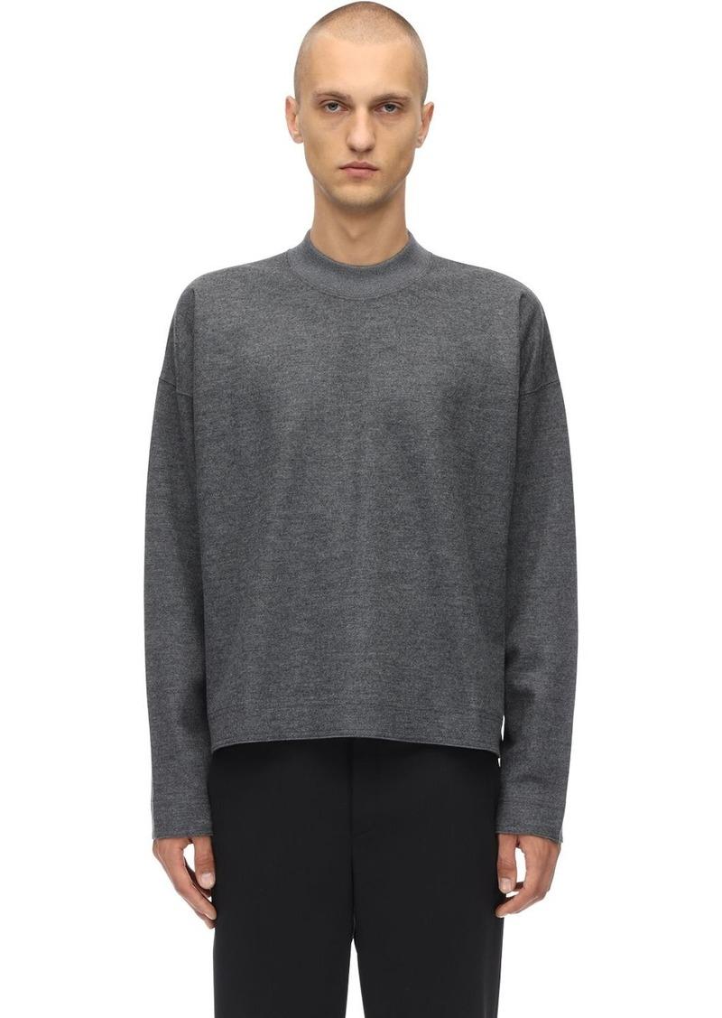 Jil Sander Oversized Wool Jersey Sweater