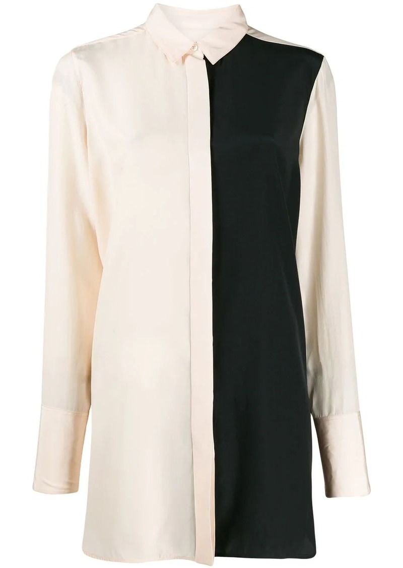 Jil Sander panelled long-line blouse