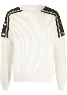 Jil Sander panelled rib-knit jumper