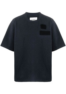 Jil Sander patch-detail short-sleeve jumper