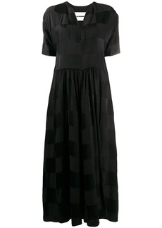 Jil Sander patchwork check maxi dress