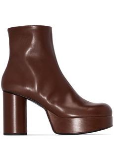 Jil Sander platform ankle boots
