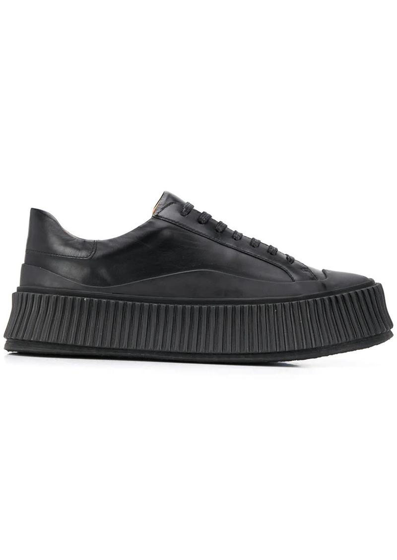 Jil Sander platform sole sneakers