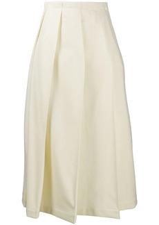 Jil Sander pleated a-line skirt