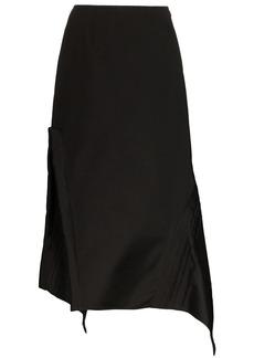 Jil Sander asymmetric midi skirt