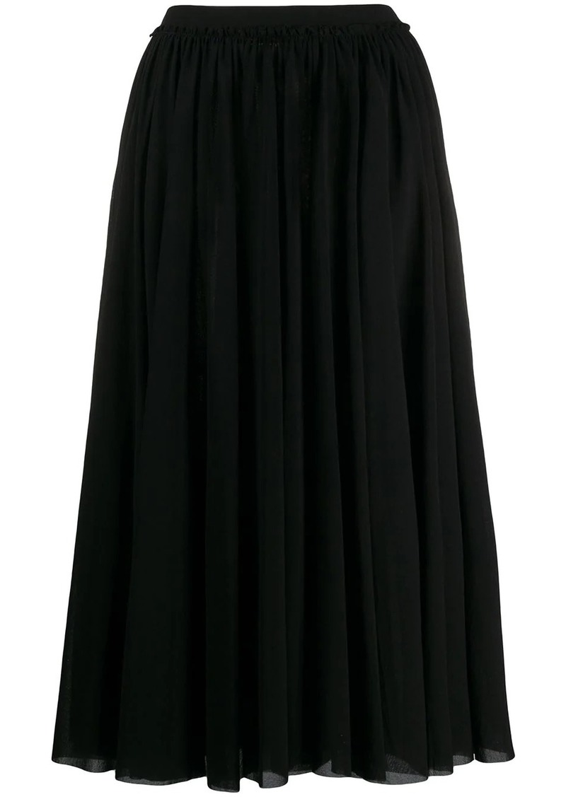 Jil Sander pleated maxi skirt
