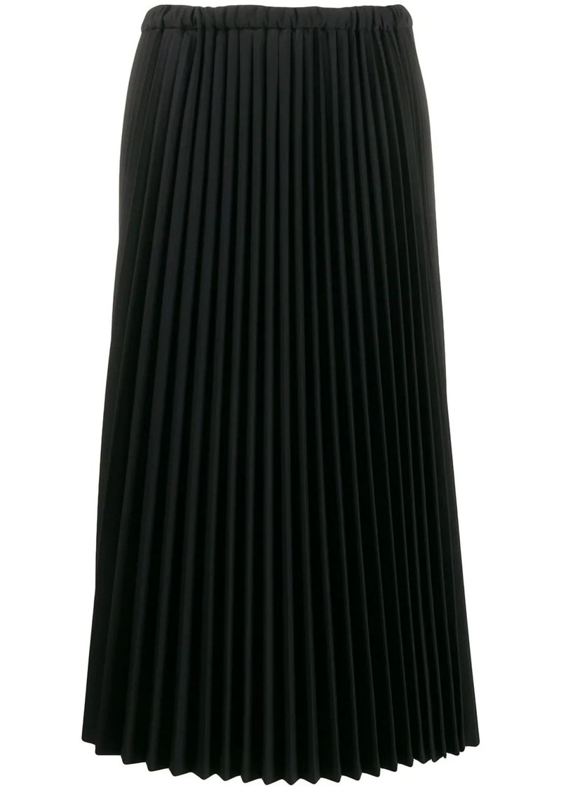 Jil Sander pleated midi skirt