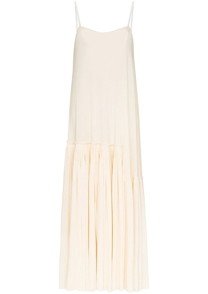 Jil Sander pleated slip dress
