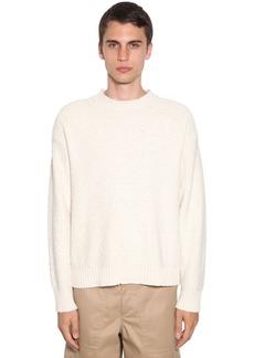 Jil Sander Plus Wavy Cotton Knit Sweater