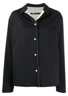 Jil Sander point-collar boxy jacket
