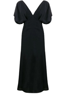 Jil Sander puff sleeve flared dress
