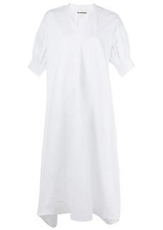 Jil Sander puff-sleeved A-line dress