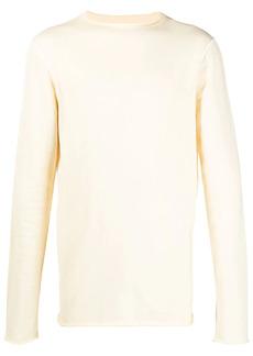 Jil Sander raw-cut knitted jumper