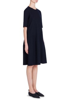Jil Sander Raw-Edge Jersey Wool Shift Dress