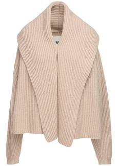 Jil Sander Recycled Cashmere Knit Rib Cardigan