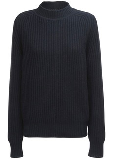 Jil Sander Recycled Cashmere Rib Knit Sweater