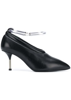 Jil Sander removable metal anklet pumps