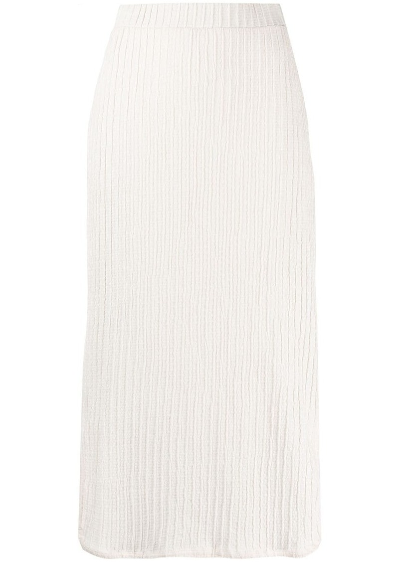Jil Sander ribbed midi skirt