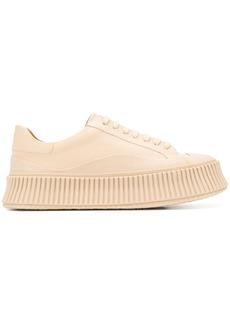 Jil Sander ribbed sole sneakers