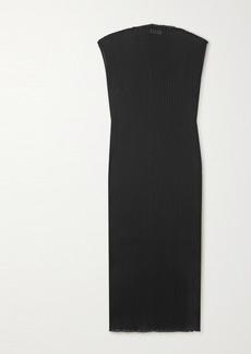 Jil Sander Ribbed Stretch-jersey Maxi Dress