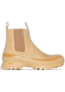Jil Sander ridged-sole Chelsea boots