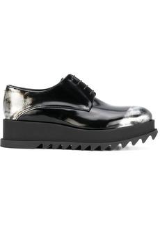 Jil Sander ridged sole lace-up shoes