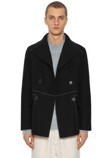Jil Sander Rockford Double Breasted Wool Pea Coat