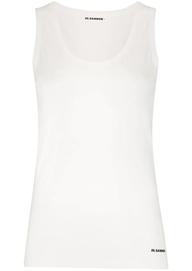 Jil Sander scoop neck cotton tank top