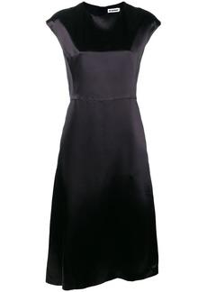 Jil Sander sheen flared dress