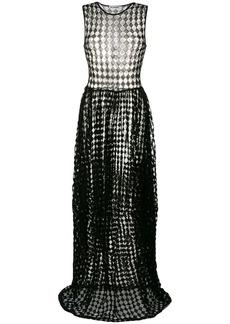 Jil Sander sheer diamond print dress