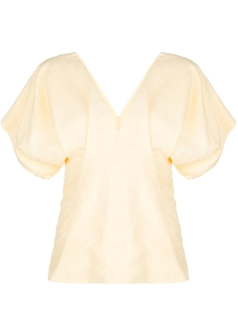 Jil Sander short puff sleeve blouse