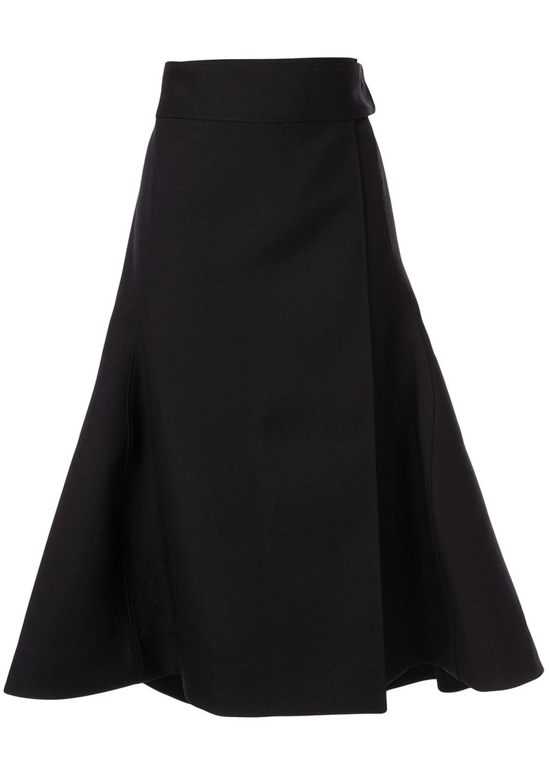 Jil Sander side fastening skirt