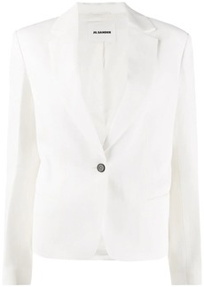 Jil Sander single breasted tuxedo blazer