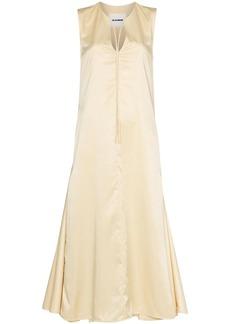 Jil Sander sleeveless flared pleated midi dress