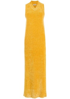 Jil Sander sleeveless long velvet knitted dress