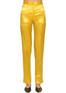 Jil Sander Slim Straight Leg Cupro Blend Pants