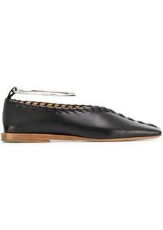 Jil Sander square toe slippers