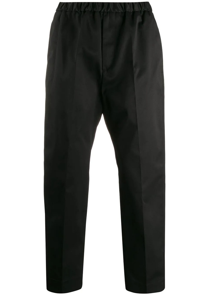 Jil Sander straight leg cropped trousers