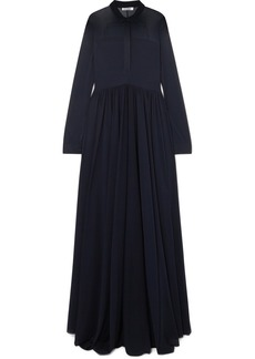 Jil Sander Stretch-chiffon Maxi Dress