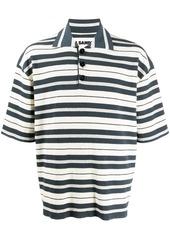 Jil Sander stripe knitted polo shirt