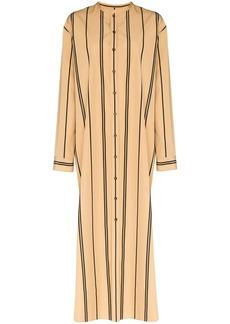Jil Sander stripe maxi shirt dress