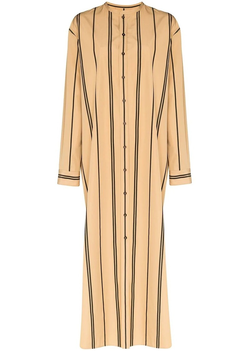 Jil Sander stripe maxi shirt dress