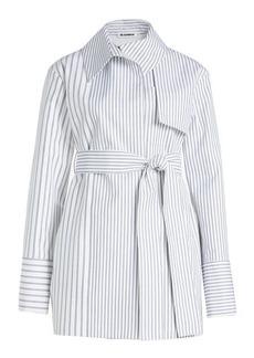 Jil Sander Striped Cotton Trench Jacket